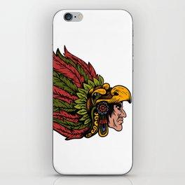 Indian Chieftain Head Illustration iPhone Skin