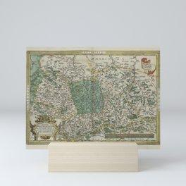 Vintage Map - Ortelius: Theatrum Orbis Terrarum (1606) - Upper Saxony Mini Art Print