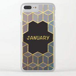 Cubes Of January Clear iPhone Case