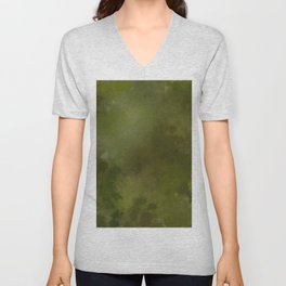 Green brown batic look Unisex V-Neck