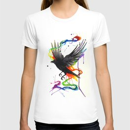 Watercolor Crow  T-shirt