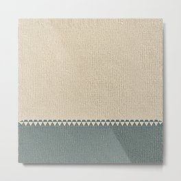Texture Taupe and Grey Green Pattern Metal Print