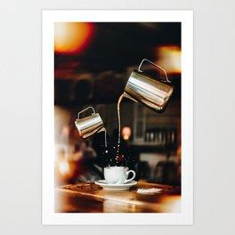 Pour Me Some Coffee Please Art Print