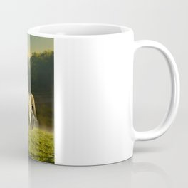 Civil War canon and limber in the early morning mist. Coffee Mug