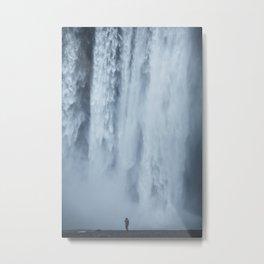 scale at skogafoss Metal Print