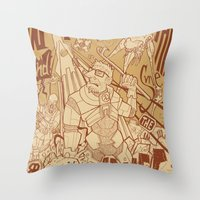 half life Throw Pillows featuring Half Life 2 tribute by Matteo Cuccato - Strudelbrain