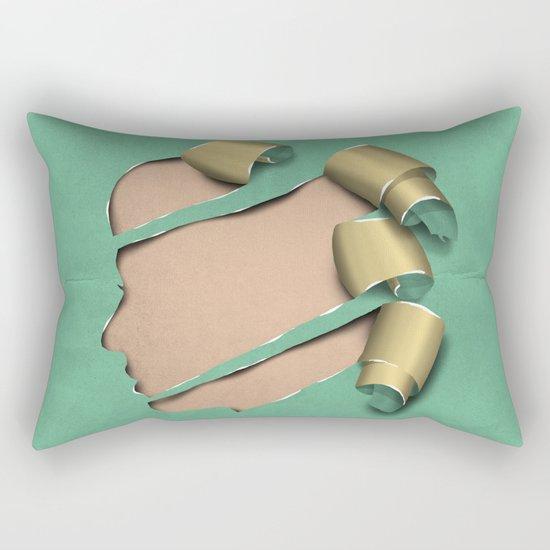 real woman Rectangular Pillow