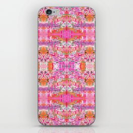Almost Gingham Check Watercolor Abstract Pattern - Pink, Lilac & Orange iPhone Skin
