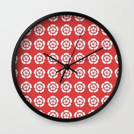 Oda Clan Samurai Pattern Wall Clock