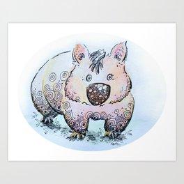 Wendy the Wombat Art Print