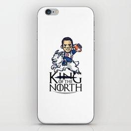 Tom Brady - king of the north iPhone Skin
