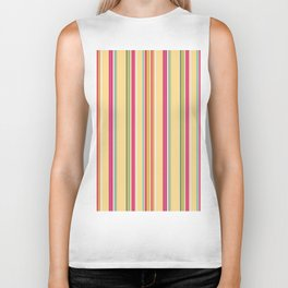 Colourful Stripes Biker Tank