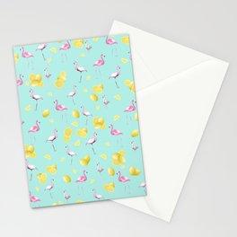 Flamingo Lemon Twist Summer Pattern #1 (Kids Collection) #decor #art #society6 Stationery Cards