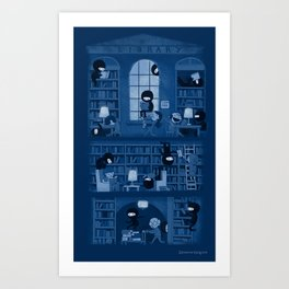 Silence in the Library Art Print
