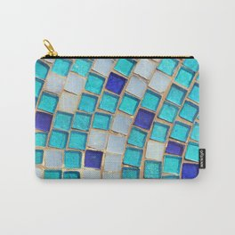 Blue Tiles - an abstract photograph. Carry-All Pouch