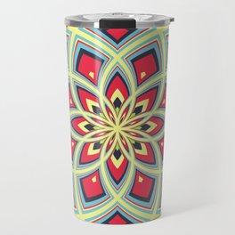 Spiral Rose Pattern D 3/4 Travel Mug