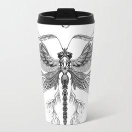 Dragon Fly Tattoo Black and White Travel Mug