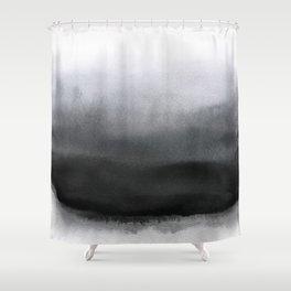 P Black Shower Curtain