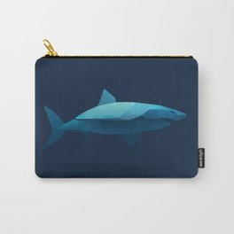 Geometric Shark - Modern Animal Art Carry-All Pouch