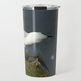 Gannets on English Coast Travel Mug