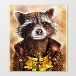 Rocket Raccoon and baby Groot from Guardians of the Galaxy Canvas Print