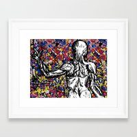 anatomy Framed Art Prints featuring Anatomy by Keith Cameron