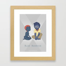 Blue Buddies Print Framed Art Print