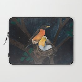 Robins in Nest Laptop Sleeve