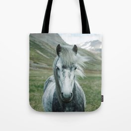 Grey Horse Tote Bag