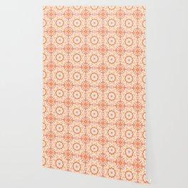 Indigo & Papaya Pattern 09 Wallpaper