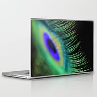 peacock feather Laptop & iPad Skins featuring Peacock feather by Falko Follert Art-FF77