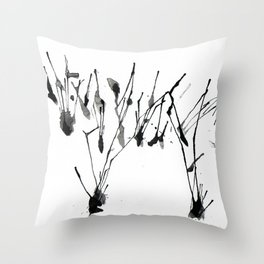 zebra ink splatter Throw Pillow