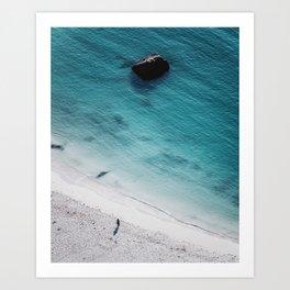 Haukland beach | Lofoten Islands Art Print
