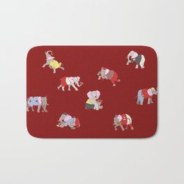 Elephants in College Bath Mat