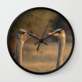 Two Heads Wall Clock