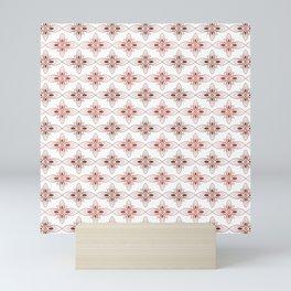 modern and geometric style batik Mini Art Print