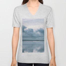 Epic Sky reflection in Iceland - Landscape Photography Unisex V-Neck