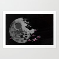 death star Art Prints featuring Death Star by Berta Merlotte