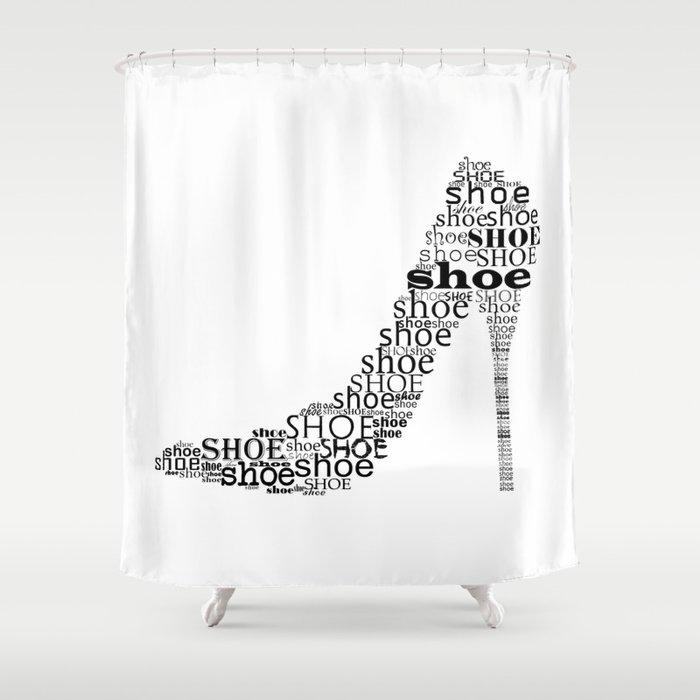 Typographic Shoe Shower Curtain by ummuhanuslu | Society6