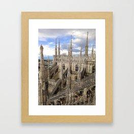 Duomo di Milano in Milan, Italy Framed Art Print