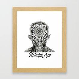 Mindful Ape Framed Art Print