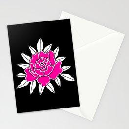 Pink peony tattoo Stationery Cards