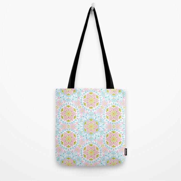 Mandala_ Spring Blue Sky Tote Bag
