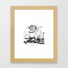 Big Merino, NSW Framed Art Print