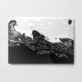 Namazu Japanese Cat Fish Metal Print