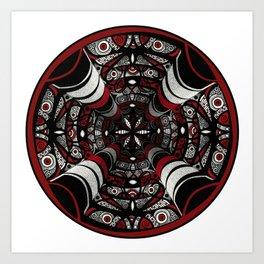 Muladhara root chakra mandala. Art Print