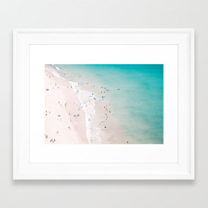 beach - summer love II Framed Art Print