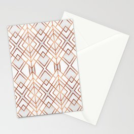 Copper Geo Stationery Cards