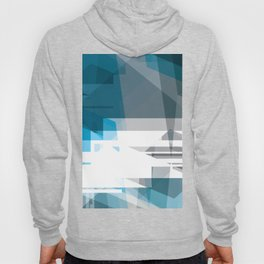 BLUE Abstract Art, Hoody