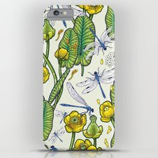 yellow water lilies and dragonflies Slim Case iPhone 6s Plus